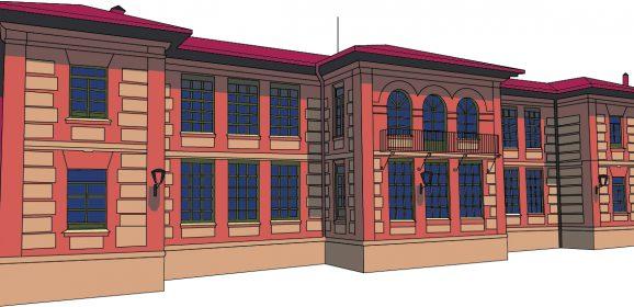 La arquitectura del centro escolar de Castronuño